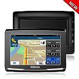 5' GPS Voiture Auto Moto 8GB, HIEHA Appareil de Navigation Écran Tactile,...