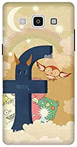 The Racoon Lean printed designer hard back mobile phone case cover for Samsung Galaxy A5. (Social Mon)