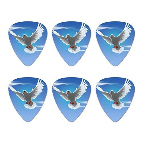Dove Bird Flying In The Sky Neuheit Gitarre Plektrum Plektron Picks Stärke Medium–Set of 6