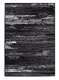 onloom Teppich Wood in Holzoptik Gemustert, robust, meliert, in 2 Farben erhältlich, Größe:133x190cm, Farbe:Anthrazit