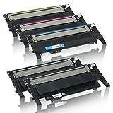 5 Toner kompatibel für CLP320 CLP325 N W CLX3185 3180 FN FW CLP-K4072S C4072S M4072S Y4072S - Schwarz je 2500 Seiten, Color je 2000 Seiten