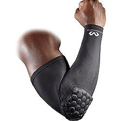 Mc David - Ultralite - Manchette Bras Sport avec Coudière de Protection - Mixte Adulte - Noir - S