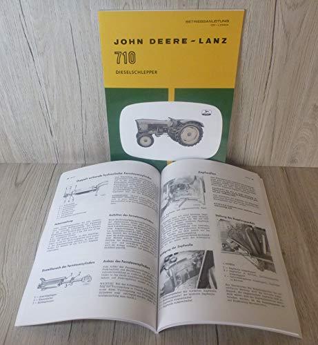 BETRIEBSANLEITUNG für John Deere-Lanz 710
