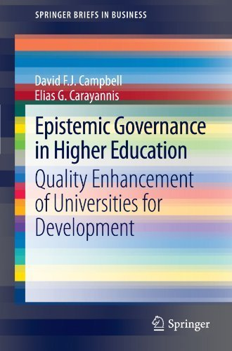 Epistemic Governance in Higher Education: Quality Enhancement of Universities for Development (SpringerBriefs in Business) by David F.J. Campbell (2012-07-11)