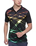 #5: Campus Sutra Men's Jersey Polo Neck Odourless Dryfit Sports T-shirt