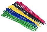 Unitec 44746 Kabelbinder-Set 150x2,5mm farbig Sortiert 50x, 50 Stück