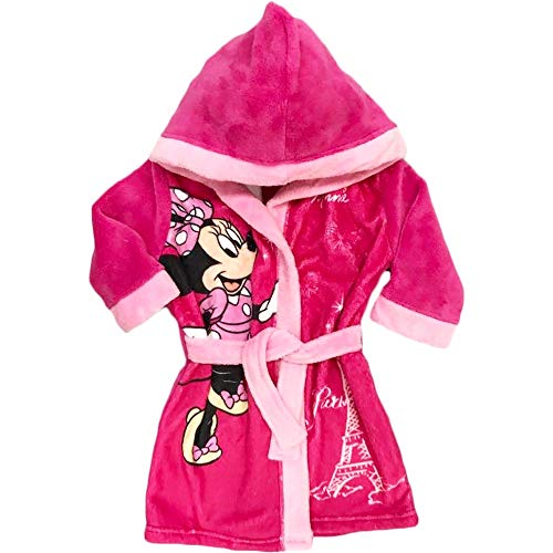 GUIZMAX Bademantel, Fleece, Minnie, 3 Jahre, mit Kapuze