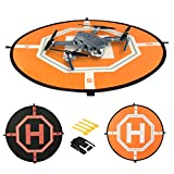 Landing Pad for RC Drones Helicopter DJI Mavic Pro, Also Fit for Phantom 2/3/4/4 Pro, Inspire 2/1, 3DR Solo, Quadcopters, GoPro Karma, Parrot & More. 31 inches, with Reflective Areas, By Comecase