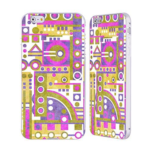 Ufficiale Shelly Bremmer Sentiero Geometrico Argento Cover Contorno con Bumper in Alluminio per Apple iPhone 5 / 5s / SE Discesa Due