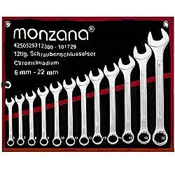 Schraubenschlüssel Set ✔ inkl. Rolltasche ✔ 12tlg. Werkzeug Set 6-22mm - 【Setauswahl】 - Ring Maulschlüssel Ringschlüssel Maulringschlüssel Ringschlüssel Schrauben Schlüssel