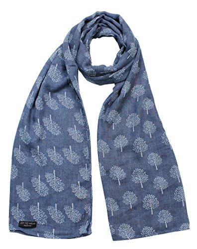 - 51WgUgXglBL - Mulberry Tree Print Fashion Scarf (Denim)