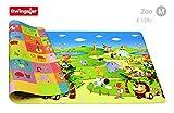 Dwinguler doppelseitige Spiel- & Lernmatte 'Farbenfroh' 190x130cm im Zoo