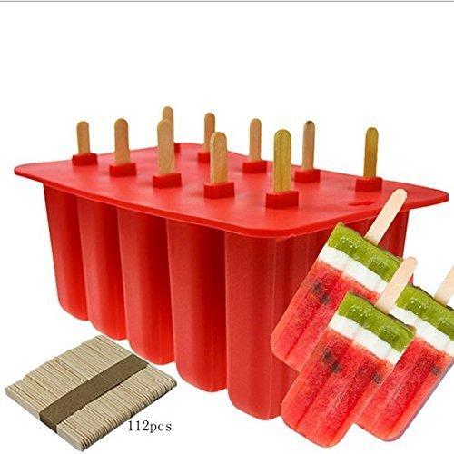 one Frozen Ice Pop mit 100Wooden Sticks für Kleinkinder, Kinder und Erwachsene - BPA frei (rot) ()
