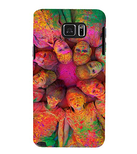 PrintVisa Designer Back Case Cover for Samsung Galaxy S6 Edge+ :: Samsung Galaxy S6 Edge Plus :: Samsung Galaxy S6 Edge+ G928G :: Samsung Galaxy S6 Edge+ G928F G928T G928A G928I (Kids Painted With Holi Colours)