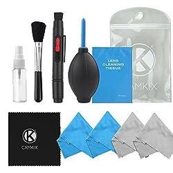 Professionelles Kamera Reinigungsset für DSLR-Kameras (Canon, Nikon, Pentax, Sony): Doppelseitiger Objektiv Reinigungs Stift, Leere Wiederverwendbare Sprühflasche, mehr (ohne Reinigungsflüssigkeit)