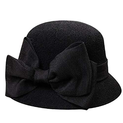 Barlingrock Damen Sommer Sonnenhüte Damen Stroh Bogen Strand Hüte Fischer Mütze Reversible Cloche Hut