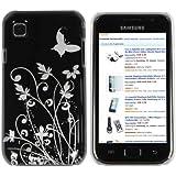 mumbi Schmetterling Blumen Hülle Samsung Galaxy S PLUS i9001 / Samsung Galaxy S i9000  (Harte Rückseite)