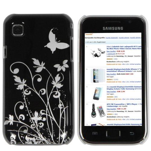 mumbi Schmetterling Blumen Hülle für Samsung Galaxy S PLUS i9001 / Samsung Galaxy S i9000  (Harte Rückseite) I9000 Hard Case