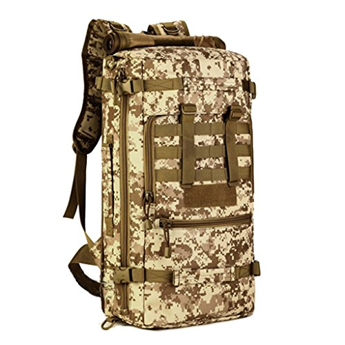 JM-Doppelte outdoor wandern/Reisetaschen Segeltuch wasserdicht und Verschleiß-resistent / 50L Schulter unisex d