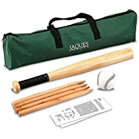 Rounders set - These are Garden Games and Garden Toys for Adults, Boys & Girls for All Ages - Compete Set Inc. Rounders Stick, Rounders Ball & Carry Case - Includes Rounders Stick, Posts and Oversize Ball - Jaques of London - Quality Since 1795