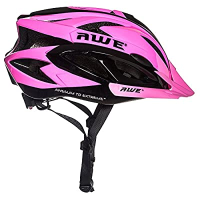 AWE® AWEAirTM FREE 5 YEAR CRASH REPLACEMENT* In Mould Adult Ladies Womens Cycling Helmet 58-61cm Pink from AWE®