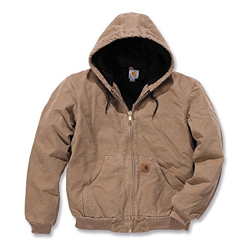 Carhartt Workwear Arbeitsjacke Quilted Flanell Lined Sandstone Active Jacket XXL, hellbraun, J130 (Mantel Carhartt Active)