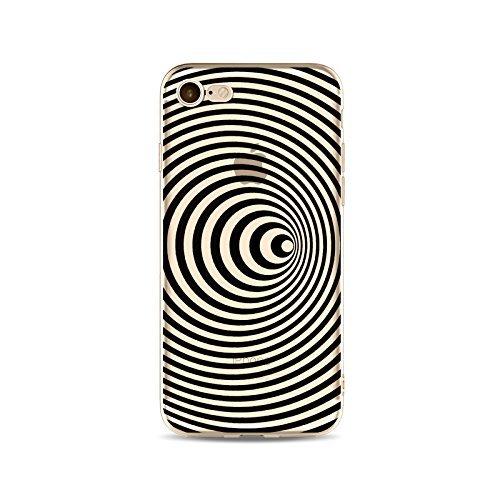 Coque iPhone 7 Housse étui-Case Transparent Liquid Crystal en TPU Silicone Clair,Protection Ultra Mince Premium,Coque Prime pour iPhone 7-ligne-style 14 7