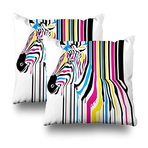 Trsdshorts Decorativepillows Case Throw Pillows Covers for Couch/Bed 18 x 18 inch,Modern Abstract Zebra Home Sofa Cushion Cover Pillowcase Gift Bed Car Living Home
