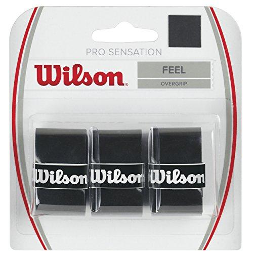 Wilson Unisex Griffband Pro Overgrip Sensation, schwarz, 3 Stück, WRZ4010BK