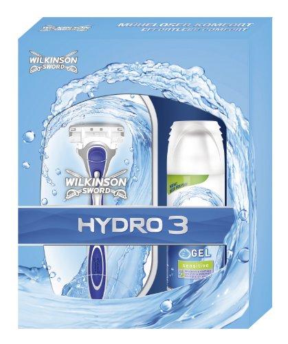 Wilkinson Sword Hydro3 Geschenkset (1 Apparat inkl. 2 Klingen + Hydro Minigel Sensitive 75 ml)