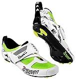 TriSeven , Chaussures de Cyclisme pour Homme - Jaune - Fluo, 43 EU