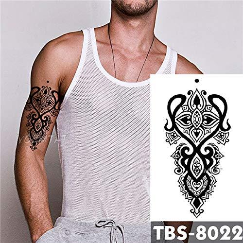 tzxdbh 5Pcs-Wasserdicht Temporäre Tätowierung Männer Feuer Tattoo Adler Lotus Mandala Auge Flamme Totem -