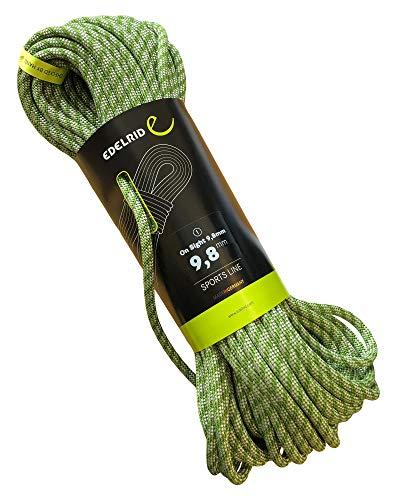 EDELRID Kletterseil On Sight 9,8 mm (dynamisches Einfachseil), Länge:60 Meter, Farbe:Green