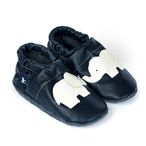 Lauflernschuhe Babyschuhe Lederpuschen Krabbelschuhe Leder weiss Mit Blau Pantau eu Elefant XqOgpp