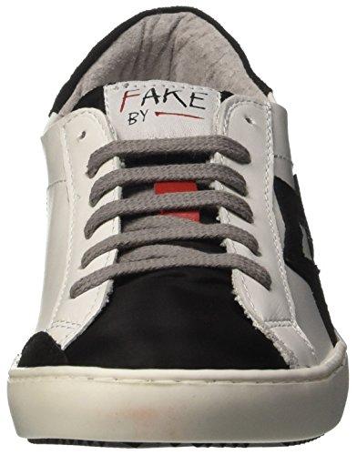 Fake By Chiodo F 846, Scarpe Low-Top Unisex-Adulto Bianco (Bianco/ Nero)