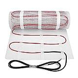 6m² premium qualität 200w/m² fußbodenheizung matte dual-core elektrische kabel, größe unter fliesen heizung boden selbstklebende matte