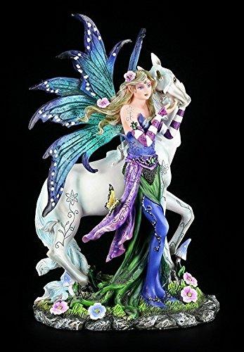 Elfen-Figur Petrina mit Einhorn - Wonderful Garden - Elfenfigur Elfe Fee Fairy Deko