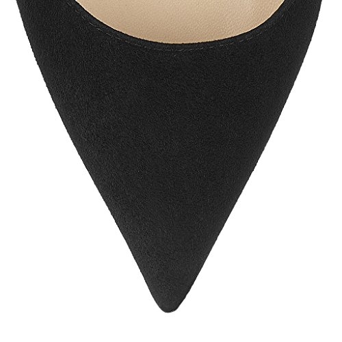 SHOFOO - Femmes - Stiletto - Plusieurs couleurs- Cuir de daim synthétique - Talon aiguille - Bout pointu fermé Noir