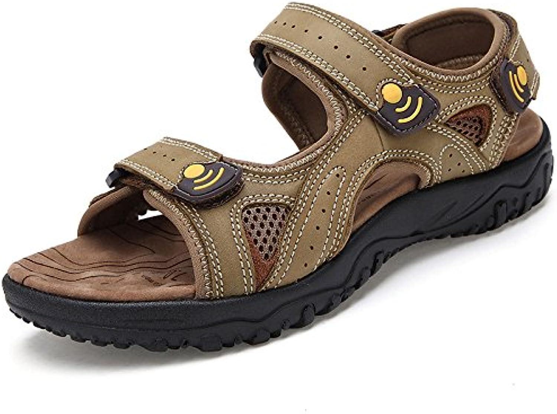 LEDLFIE Herren Sandalen Outdoors Beach Schuhe Herrenschuhe Khaki 43LEDLFIE Sandalen Outdoors Herrenschuhe Khaki 43 Billig und erschwinglich Im Verkauf