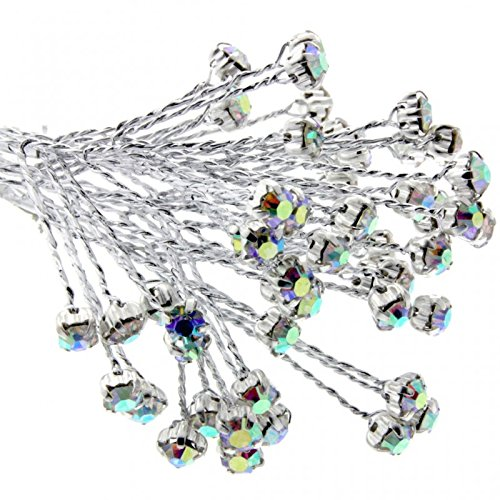 Corsage Creations Zweig, 4 mm, schillernd, 3 Sträuße x 6 Stiele pro Beutel -