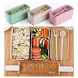 Lomire Robuste tragbare multifunktionale Brotdose mit DREI Ebenen Küchenhelfer & Kochzubehör
