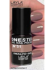 LAYLA Cosmetics One Step Gel Vernis à Ongles Choco Love, 1er Pack (1x 5ml)