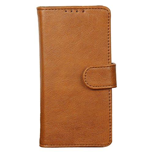 swankmobilecovers Wallet Flip Cover For Lenovo Phab 2(GG-BROWN)