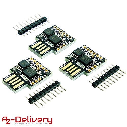 AZDelivery ⭐⭐⭐⭐⭐ 3 x Digispark Rev.3 Kickstarter mit ATTiny85 und USB für Arduino mit gratis eBook!