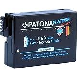 Bundlestar PATONA Platinum Akku für Canon LP-E8 (1260mAh) mit Infochip zu Canon EOS 550D 600D 650D 700D