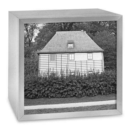 COGNOSCO - Leuchtkasten aus Aluminium: Motiv Goethes Gartenhaus Weimar, im Format 37 x 37 cm -...