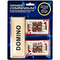 Dominos et cartes à jouer ensemble