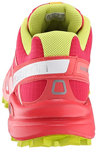 Salomon  Speedcross 3 W, Chaussures de trail Salomon Speedcross 3 W Light Onix Topaz Blue Dark Cloud femme Rose - Pink (Lotus Pink/Papaya-B/Gecko Green)