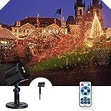 Projecteur de Noël, Lumière Projecteur Extérieur et Intérieur, LED Lampe Projecteur de Noel avec Télécommande pour Halloween/Noël/Anniversaire/Mariage/Soirée Décoration