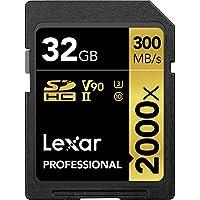 Scheda di Memoria Lexar® Professional 2000x SDHC™ UHS-II 32GB [Imballaggio esclusivo Amazon]
